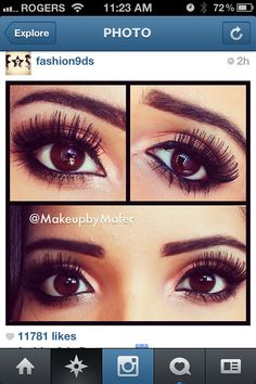 This is a mix between brown and purple. This would be a great look for brown eyes..