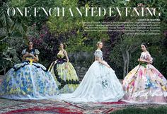 Vogue US is bewitched by Dolce Alta Moda. Credits: Vogue US Stylist: Grace Coddington Photographs: Peter Lindbergh Peter Lindbergh, Grace Coddington, Fashion Editor, Editorial Fashion, Vogue Editorial, One Enchanted Evening, Enchanted Garden, Mode Baroque, Bette Franke