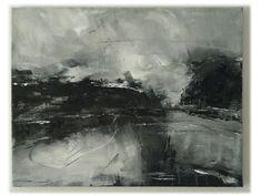 """""""landscape 58"""", Painting, 2010, 65 x 50 x 2 cm / by Farnoosh Ashrafi"""