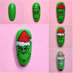 Xmas Nail Art, Cute Christmas Nails, Xmas Nails, Holiday Nails, Halloween Nails, Home Nail Salon, Nail Salon Design, Pedicure Nails, Gel Nails