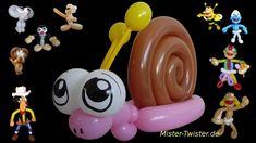 117  Balloon Animals Snail, Ballon Tiere Schnecke, Modellierballon Ballonfiguren