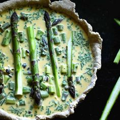 Spring Asparagus, Bacon, & Goat Cheese Tart. Get this and 50+ more Brunch at Home recipes at https://feedfeed.info/brunch-at-home