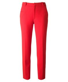 Get Victoria Beckham's bold red pant look.
