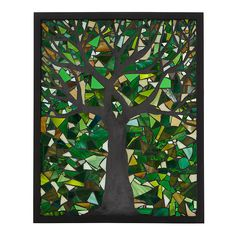 Spring Tree Stained Glass Panel, Uncommon goods