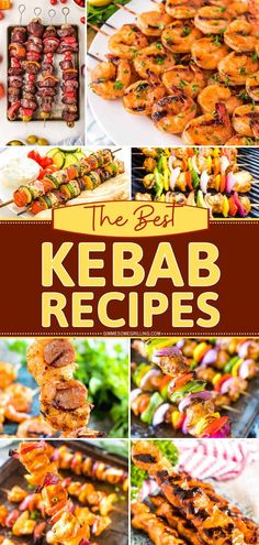 These different types of kebab recipes are what you need for weeknight dinners, cookouts, and backyard bbq parties! Smoked recipes, grilling recipes, chicken, pork, shrimp, vegetables- we've got your kebab needs! Kebab Recipes, Grilling Recipes, Slow Cooker Recipes, Pasta Recipes, Easy Dinner Recipes, Holiday Recipes, Smoking Recipes, Man Food, Easy Weeknight Dinners
