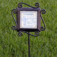 Garden Remembrance Stake - Mens $24.95