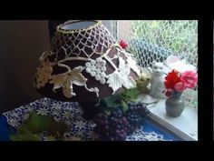 Irish Crochet Lace, Grapes Lampshade.  Really lovely.