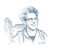 R.I.P. Harold Ramis as Dr. Egon Spengler - Ghostbusters by James Hance *