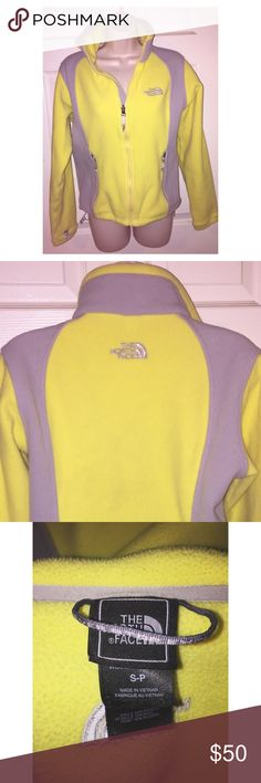 North Face Yellow zip up North Face jacket. Women's small, excellent condition! $50 OBO The North Face Jackets & Coats