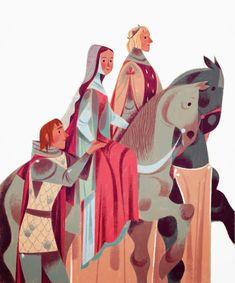 Guenièvre , Arthur et Lancelot by Annette Marnat