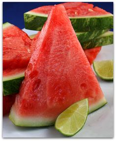 Tequila-Soaked Watermelon Slices... spritz with lime juice, sprinkle with coarse salt, a margarita you can eat!