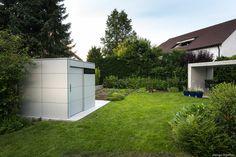 Design Gartenhaus @_gart, Farbe Grau - niemals streichen by design@garten  Projekt in Ravensburg, Germany