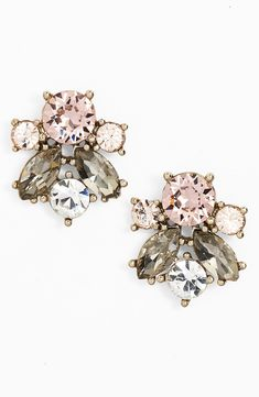 Fit for a princess | Rose gold crystal cluster stud earrings.