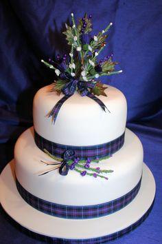 Pierce-Baker Kilted Wedding: Cake