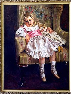 Agatha Mary Clarissa Miller, aged four, painted by Douglas Connah in 1894
