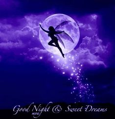 Angel wishes you good night