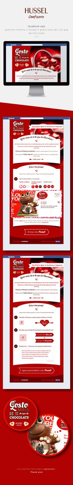 Jerónimo Martins / Hussel / Dia dos Namorados by Andrea Sousa, via Behance #webdesign #facebookapp