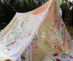Boho tent teepee canopy Girls kids shabby chic by HippieWild