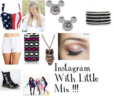 """""""Instagram With Little Mix"""" by ashleyassanah ❤ liked on Polyvore"""