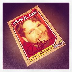 Blast from the past! Signed @ChrisBrogan @Freshbooks trading card.
