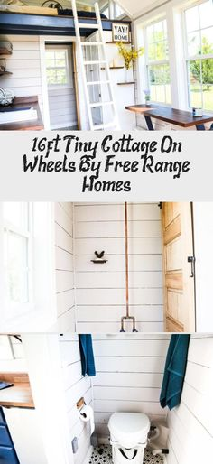 16ft Tiny Cottage on Wheels by Free Range Homes 007 #tinybathroomDimensions #tinybathroomWithBath #tinybathroomSolutions #tinybathroomWithShowers #tinybathroomLuxury
