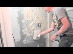 """Learn how to texture your drywall after it has been mudded and taped. This video demonstrates a Santa Fe texture.     Tools needed:  • Topping joint compound  • A 3"""" putty/drywall knife  • An 8 - 12"""" drywall knife  • A hawk (ghetto like mine or store bought)  • Plastic bags  • Sanding sponge or sanding supplies    Need to mud and tape your drywall? Check ..."""