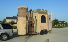"A ""Castle"" tiny house on a standard 18' car hauler trailer!"