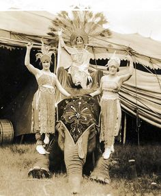 For Love of 1940's Circus Showgirls - Traveling Circus