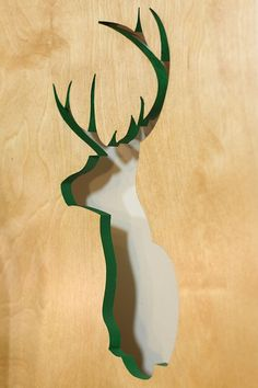 Wildlife Deer Silhouette From Recycled Wood. Deer Head SilhouetteDeer  HeadsDeer AntlersProject IdeasDiy ...