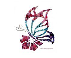 BUTTERFLY Jewels #77, 8x10 Button Art, Button Artwork, button ideas, buttons, insects, flowers, Swarovski, rhinestones, diy, ooak, elegant