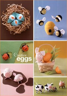 DIY Adorable & Creative EGG Creatures...love the little piggies!