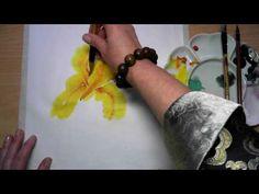 Как нарисовать ирис. Дзен-живопись. - YouTube