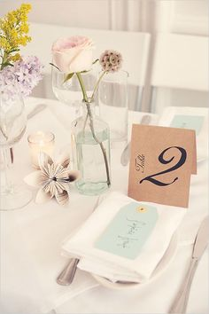 table number ideas