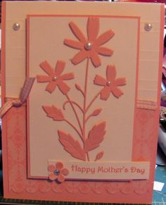 Pretty in Pink SU papers and MB Verona Bouquet die cut