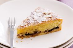 Bakewell Tart. Almonds star in this delicious tea-time tart. ~The desert we had at The Olive Tree~