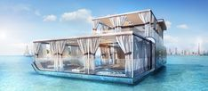 The first floating home in The Heart of Europe (Thoe) project on The World island in Dubai was unveiled