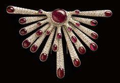 """Ameoba"" brooch of diamonds, rubies and gold by Verdura and Salvador Dali"