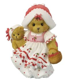 Look at this #zulilyfind! Basket of Cherries Figurine #zulilyfinds