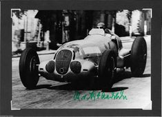 MANFRED VON BRAUCHITSCH MERCEDES RENNFAHRER AUTOGRAPHED SIGNED PHOTOGRAPH FOTO Grand Prix, Manfred, Classic Race Cars, Formula 1, Mercedes Benz, Racing, Ebay, Sports, Arrows
