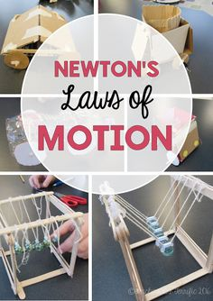 STEM Challenges all about Newton's Laws of motion! Students design and build devices to prove a law of motion! Three fun challenges!