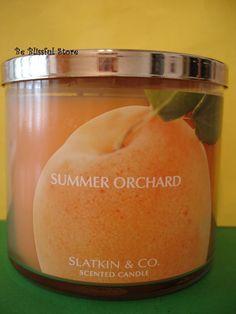 Bath & Body Works Slatkin Summer Orchard Large Full Size 3 Wick Candle Rare #BathandBodyWorks