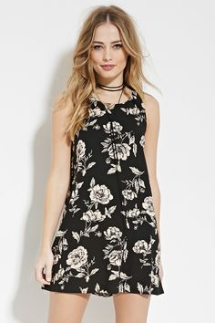 Vestido Corto Floral - Vestidos - 2000185497 - Forever 21 EU Español