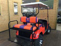 Custom EZGO Clemson Cart