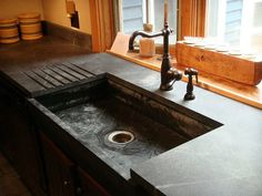 Soapstone Vessel Sink : Soapstone sink/counter. Wanted old soapstone sink for my kitchen when ...