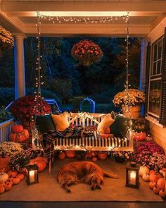 Autumn Porch, photo by Kiel James Patrick & Living Porch Decorating, Decorating Your Home, Holiday Decorating, Dyi, Easy Diy, Vsco, Decoration Bedroom, Autumn Cozy, Happy Autumn