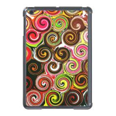 Swirl Me Pretty Colorful Swirls Pattern iPad Mini Cover