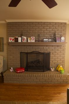 Wait until you see this fireplace after its makeover.