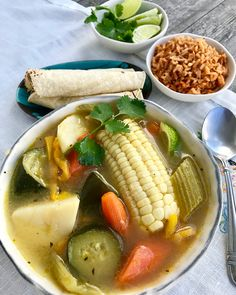 Mexican style Vegetable Soup - Presley's Pantry - Vegan Soup