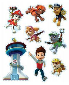 Kids will love using these Paw Patrol stickers to customize their belongings! Paw Patrol Cake, Paw Patrol Party, Paw Patrol Birthday, Third Birthday, 4th Birthday Parties, Birthday Fun, Birthday Ideas, Fete Laurent, Imprimibles Paw Patrol