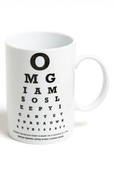 OMG eye chart - So funny!